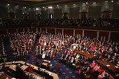 Members of the 114th Congress do a roll call vote for the Speaker of the House in the House chamber at the US Capitol January 6 2015 in Washington DC...