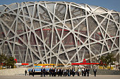 Members of the 2022 Evaluation Commission for the International Olympic Committee and representatives of Beijing's 2022 Winter Olympics bid committee...