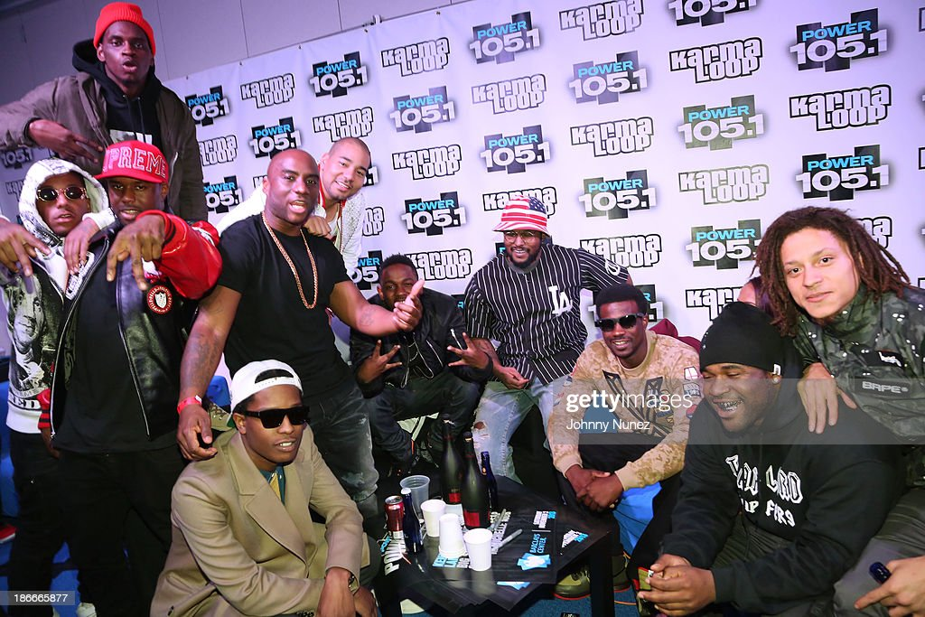 Members of the A$AP Mob The Breakfast Club and Kendrick Lamar's crew attend Power 1051's Powerhouse 2013 presented by Play GIGIT at Barclays Center...