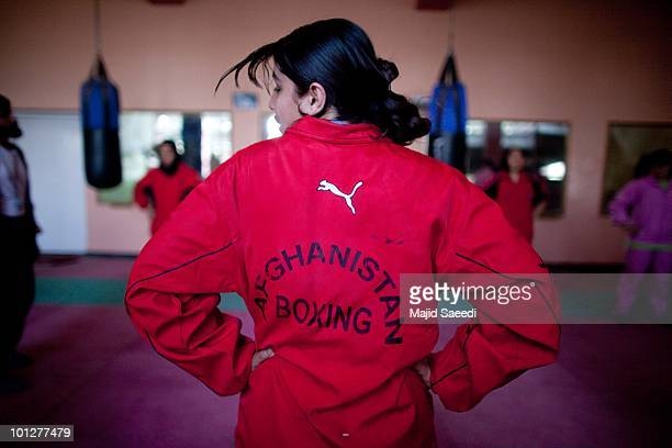 Members of the Afghanistan women's national boxing team take part in a training session on May 3 2010 in Kabul Afghanistan After facing years of...