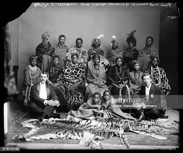 Members of The African Choir pose for a group portrait with their English choir manager Walter Letty and musical director James Balmer 1891 The choir...