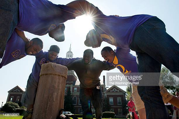 Members of the Alpha Chapter of Omega Psi Phi gather every Friday around the sundial on the campus of Howard University in Washington DC on October...