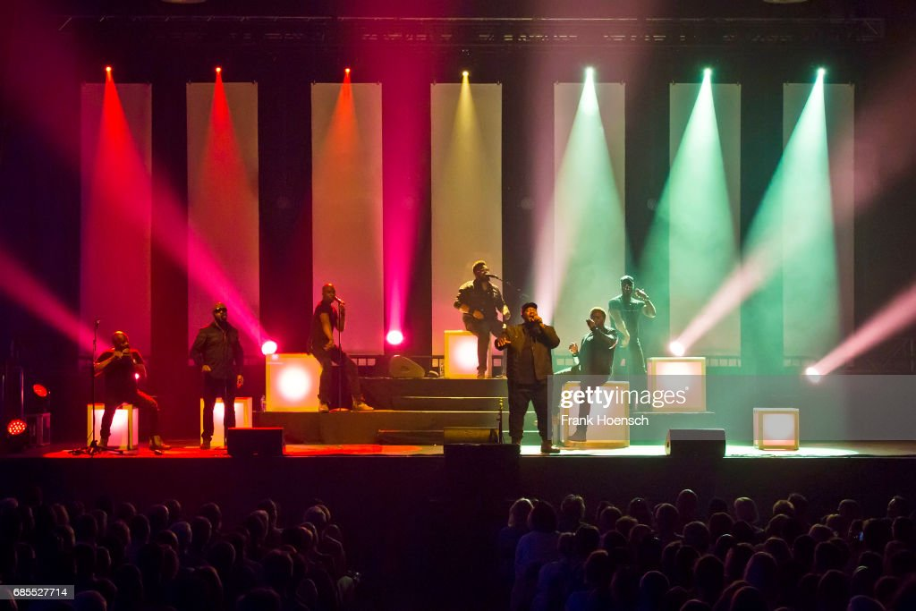 Members of the American band Naturally 7 perform live on stage during a concert at the Huxleys on May 19, 2017 in Berlin, Germany.
