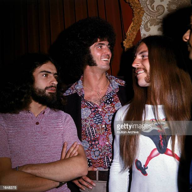 Members of the American rock band Grand Funk Railroad Mel Schacher Don Brewer and Mark Farner 1970s
