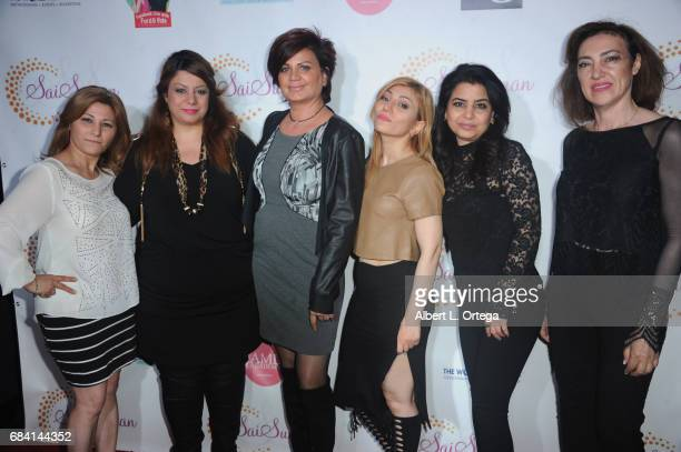 Members of the AML Academy Makeup School at Sai Suman's Official Hollywood Runway Fashion Show held at Sofitel Hotel on April 11 2017 in Los Angeles...