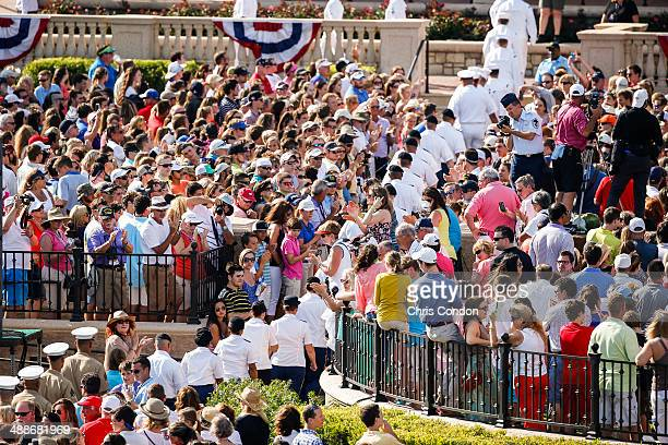 Members of the Armed Forces arrive for THE PLAYERS Championship Military Appreciation Day Ceremony on THE PLAYERS Stadium Course at TPC Sawgrass on...