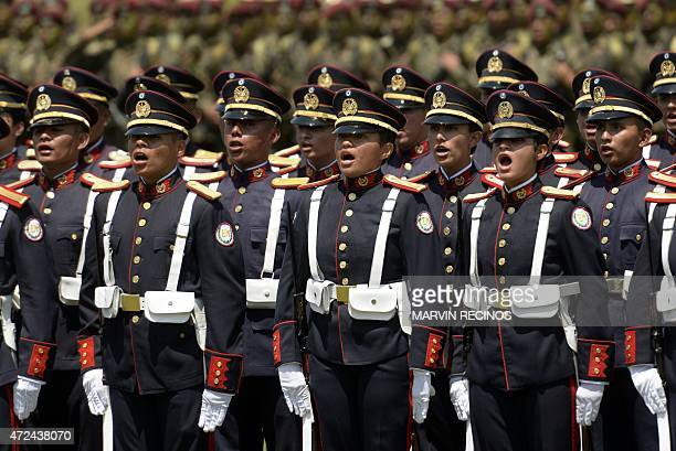 Members of the Armed Forces participate in the commemoration of the day of the Salvadorean soldier and of the 191st anniversary of the Salvadorean...