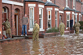 Members of the Army help with the rescue effort after Storm Desmond caused flooding on December 6 2015 in Carlisle England Storm Desmond has brought...