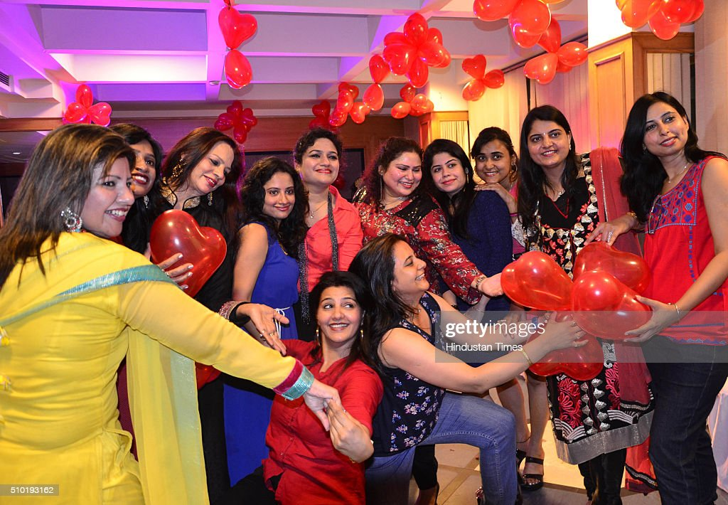 Members of the Association of Convent ex students (ACES) celebrating the Valentine day on February 14, 2016 in Bhopal, India. Valentine's Day, also known as Saint Valentine's Day or the Feast of Saint Valentine, is a celebration observed on February 14 each year. It is celebrated in many countries around the world, although it is not a public holiday in most of them.
