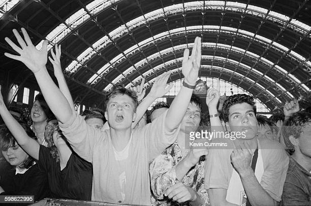 Members of the audience at the GMEX centre Manchester during the Festival Of The 10th Summer 19th July 1986 on the bill were The Smiths The Fall A...