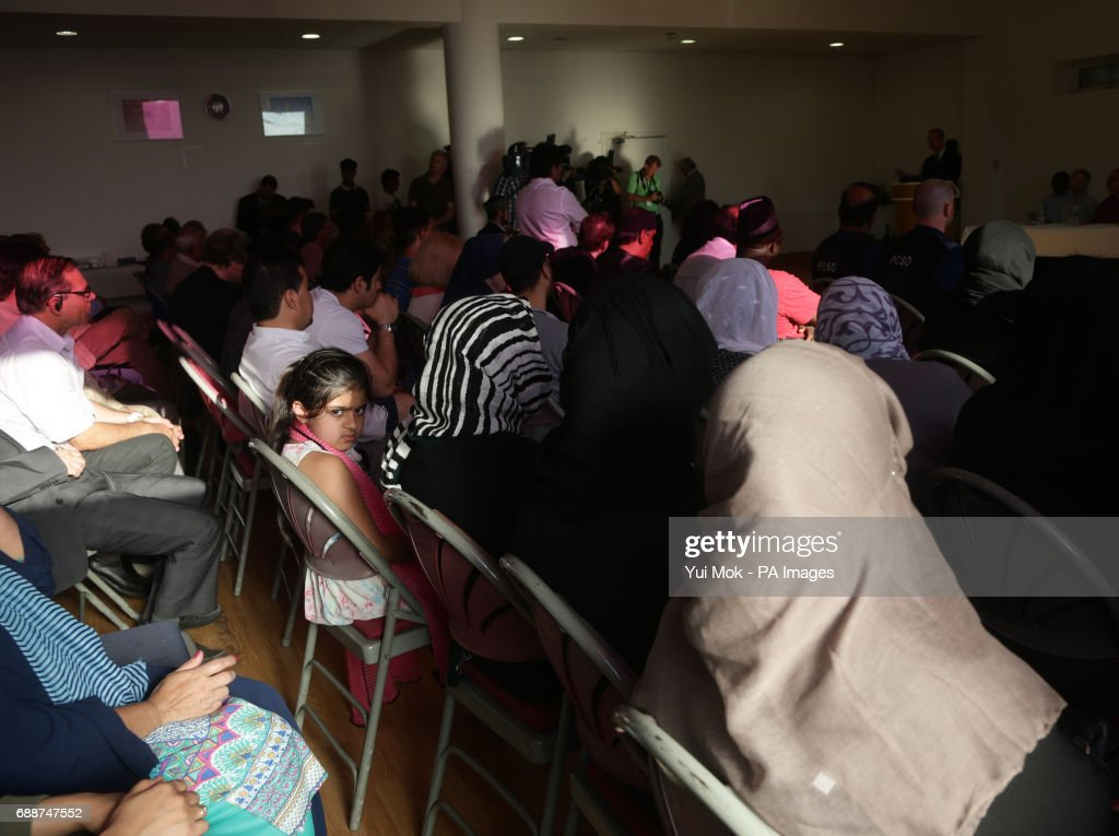 Members of the audience listen as Liberal Democrat leader Tim Farron speaks during a remembrance service with the Ahmadiyya Community, at the Darul Aman Mosque, as part of a General Election campaign event in Manchester.