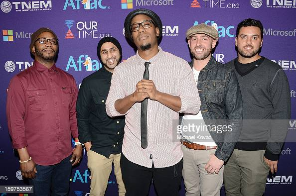 Members of the band Bad Rabbits attend the Inaugural Youth Ball hosted by OurTimeorg at Donald W Reynolds Center on January 19 2013 in Washington...