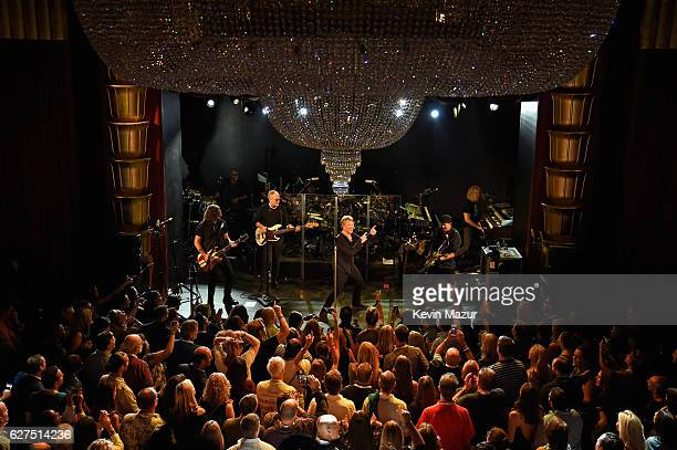 Members of the band Bon Jovi perform onstage Bon Jovi Live presented by SiriusXM during Art Basel at the Faena Theater on December 3 2016 in Miami...