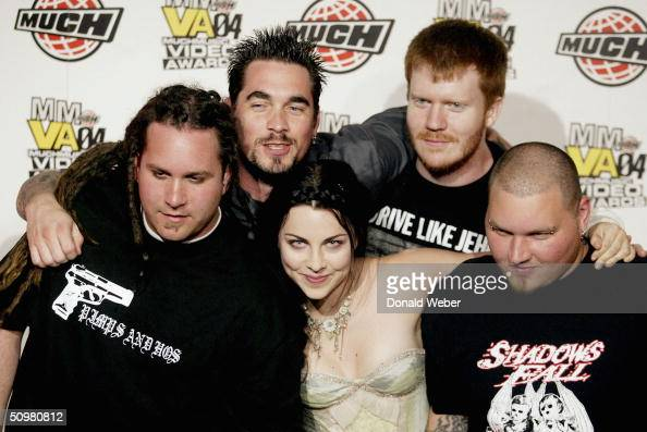 Members of the band Evanescence appear backstage during the Much Music Video Awards on June 20 in Toronto Canada