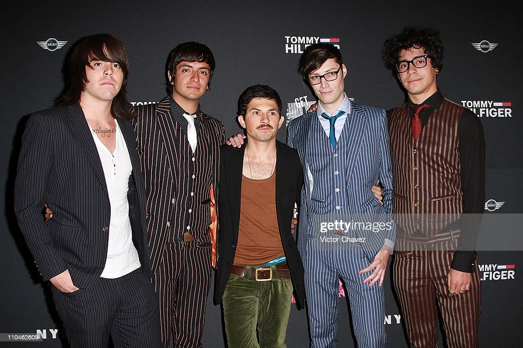 Members of the band Fasten Music Thigo, JP, Leninwa, Jorge Ferro and Omar Hernandez attend the Nylon Mexico magazine 2nd anniversary party at Alameda Poniente on March 16, 2011 in Mexico City, Mexico.