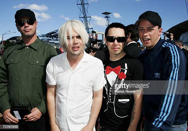 Members of the band Grinspoon arrive at the ARIA Awards 2006 at the Acer Arena on October 29 2006 in Sydney Australia The ARIA Awards recognise...