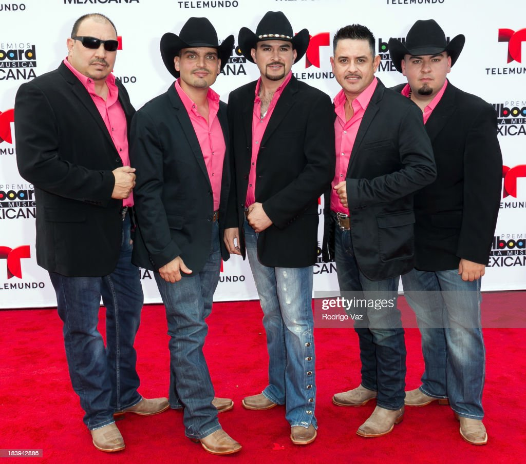 Members of the band Grupo Notable attend the 2013 Billboard Mexican Music Awards arrivals at Dolby Theatre on October 9, 2013 in Hollywood, California.