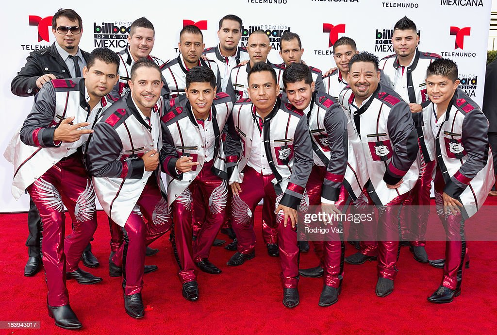 members of the band Los Elegantes de la Banda attend the 2013 Billboard Mexican Music Awards arrivals at Dolby Theatre on October 9, 2013 in Hollywood, California.
