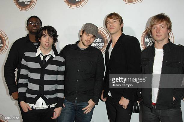 Members of the band Plain White T's during 2006 mtvU Woodie Awards Arrivals at Roseland Ballroom in New York City New York United States