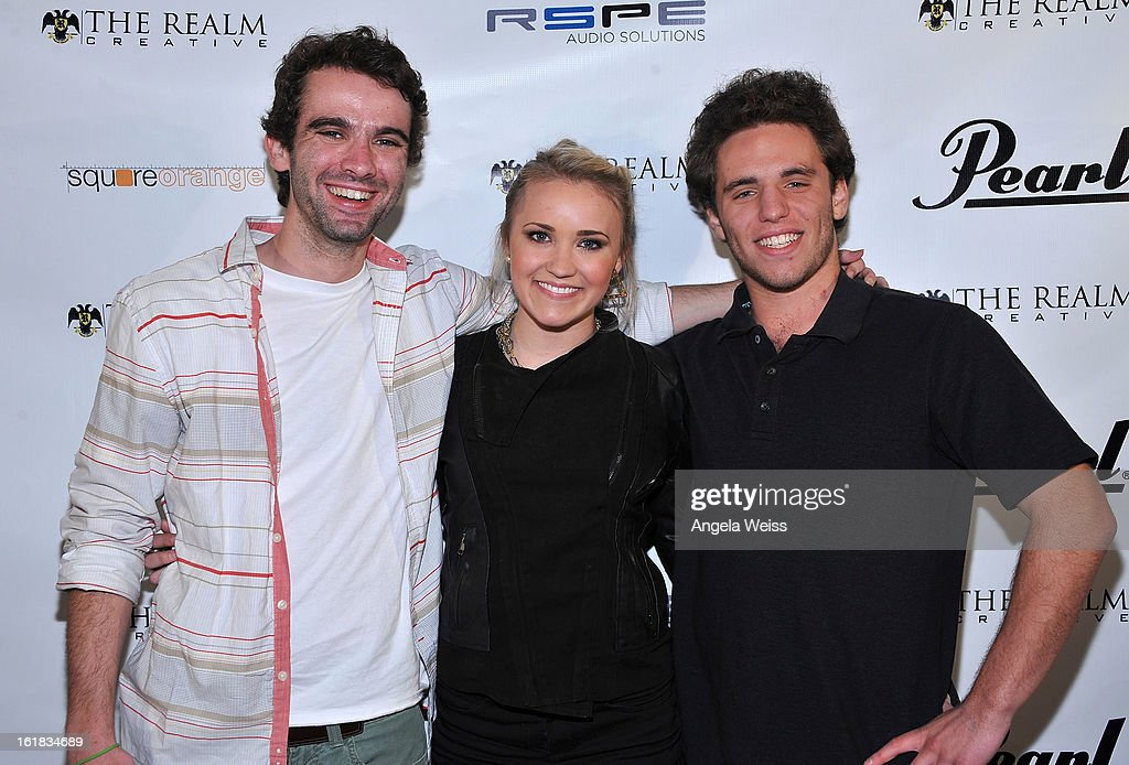 Members of the band Ramshackle attend The Realm Creative red carpet premier party on February 16, 2013 in Los Angeles, California.
