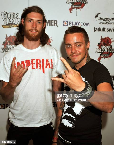 Members of the band Sylosis arrive at the Indigo concert venue for the Metal Hammer Golden Gods awards at the O2 Arena in Greenwich south East London