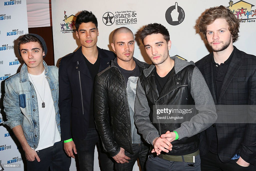 Members of the band The Wanted attend the 7th Annual 'Stars & Strikes' Celebrity Bowling and Poker Tournament benefiting A Place Called Home at PINZ Bowling & Entertainment Center on March 6, 2013 in Studio City, California.