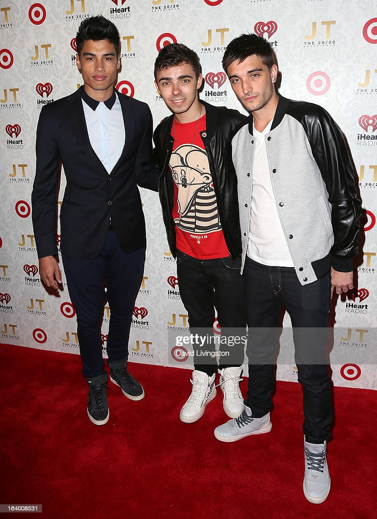 Members of the band <a gi-track='captionPersonalityLinkClicked' href=/galleries/search?phrase=The+Wanted&family=editorial&specificpeople=7122355 ng-click='$event.stopPropagation()'>The Wanted</a> attend the iHeartRadio '20/20' album release party with Justin Timberlake presented by Target at the El Rey Theatre on March 18, 2013 in Los Angeles, California.