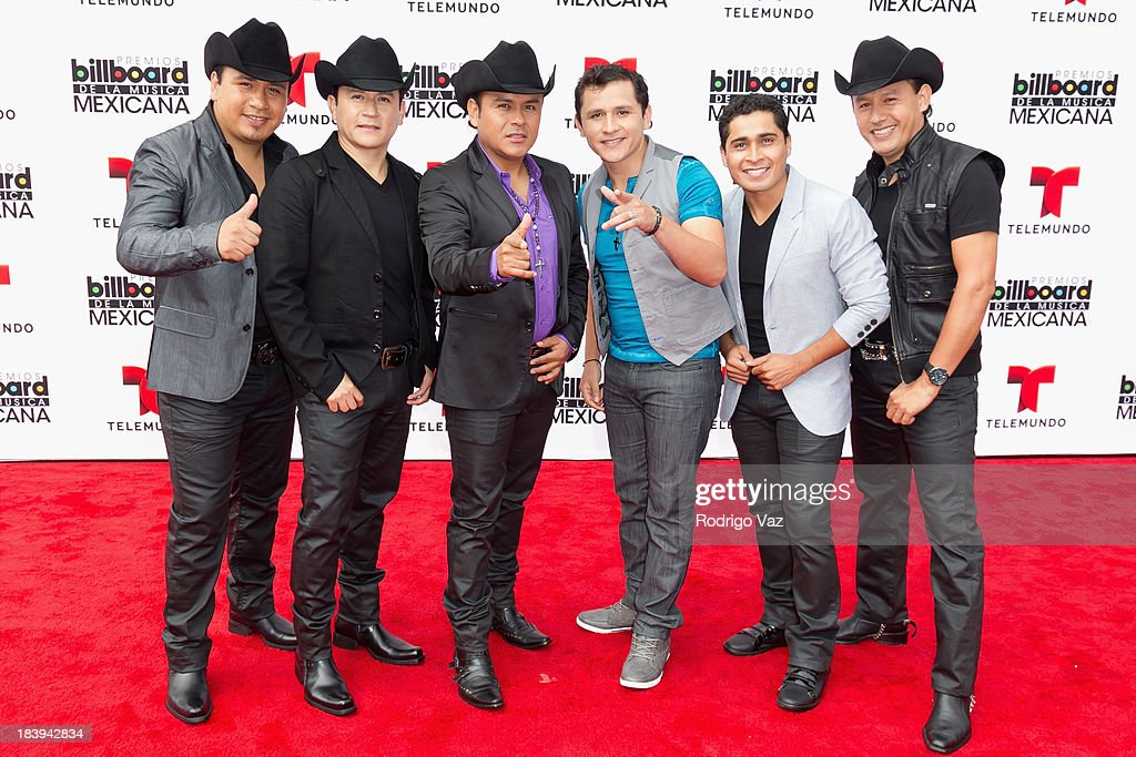 Members of the band Tierra Cali attend the 2013 Billboard Mexican Music Awards arrivals at Dolby Theatre on October 9, 2013 in Hollywood, California.