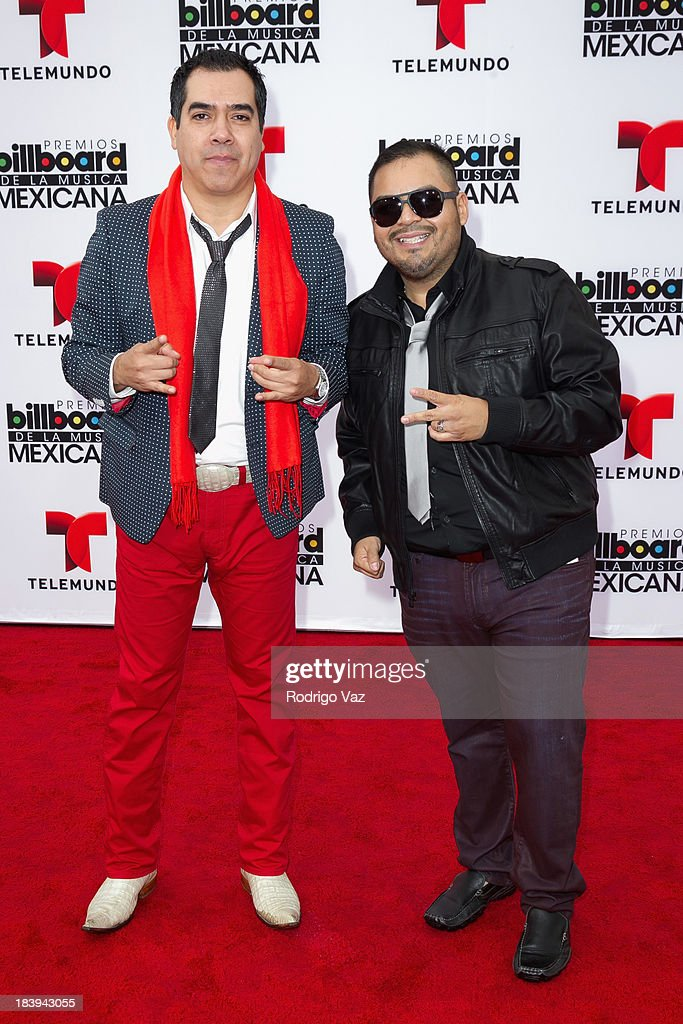 Members of the band Voces del Rancho attend the 2013 Billboard Mexican Music Awards arrivals at Dolby Theatre on October 9, 2013 in Hollywood, California.
