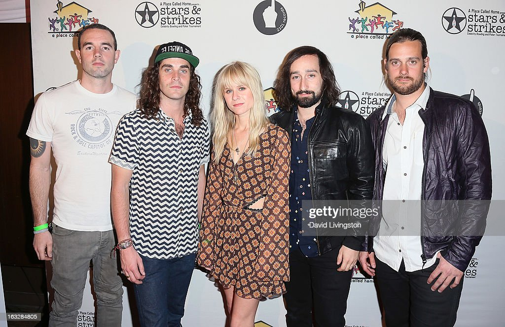 Members of the band Youngblood Hawke attend the 7th Annual 'Stars & Strikes' Celebrity Bowling and Poker Tournament benefiting A Place Called Home at PINZ Bowling & Entertainment Center on March 6, 2013 in Studio City, California.
