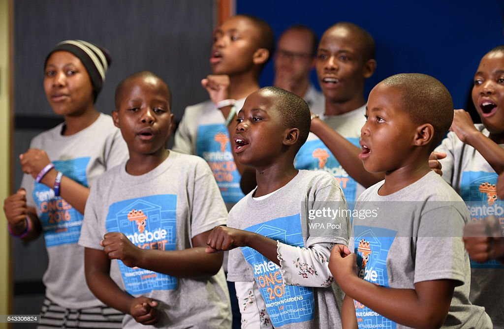 Members of the Basotho Youth Choir during their rehearsals at the Brit School on June 27, 2016 in London, England. The Basotho Youth Choir will perform alongside Sentebale Ambassador Joss Stone at tomorrow's Sentebale Concert at Kensington Palace, headlined by Coldplay. The choir members have all been supported by Sentebale's Secondary School Bursaries Progamme or Care for Vulnerable Children Programme. The Bursaries Programme covers the cost of school fees, uniforms and books for some of Lesotho's most disadvantaged children.