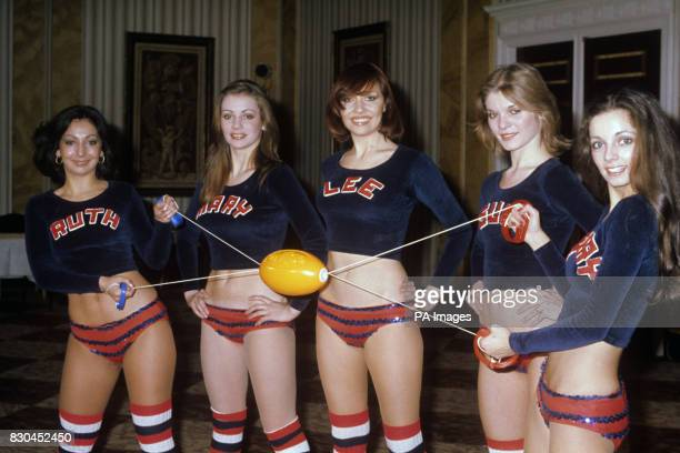 Members of the BBC TV allgirl dance troupe 'Pans People' play a game together The girls can usually be seen dancing on the programme 'Top pf the...