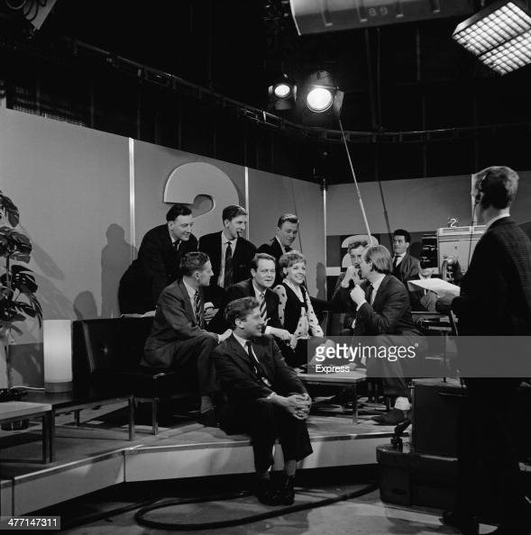 Members of the BBC Two production team at Television Centre London the day before the planned launch of the BBC's second channel 19th April 1964 At...