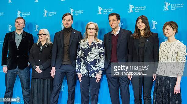 Members of the Berlinale Film Festival jury British film critic and jury member Nick James French photographer and jury member Brigitte Lacombe...