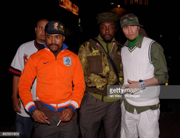 Members of the Black Eyed Peas Alpdeap William and Taboo arrive for their pretour party at The Penthouse Leicester Square cental London
