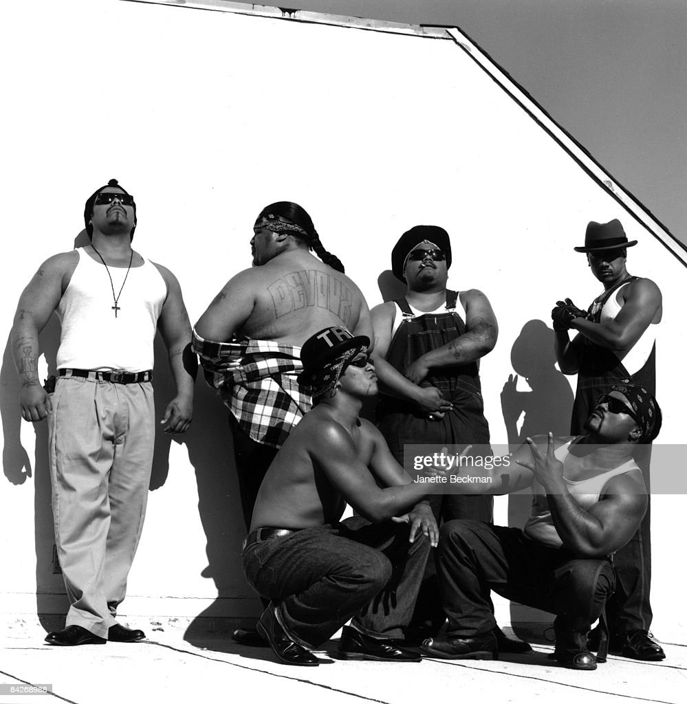 Members of the Boo-Ya Tribe pose in Los Angeles, 1990.