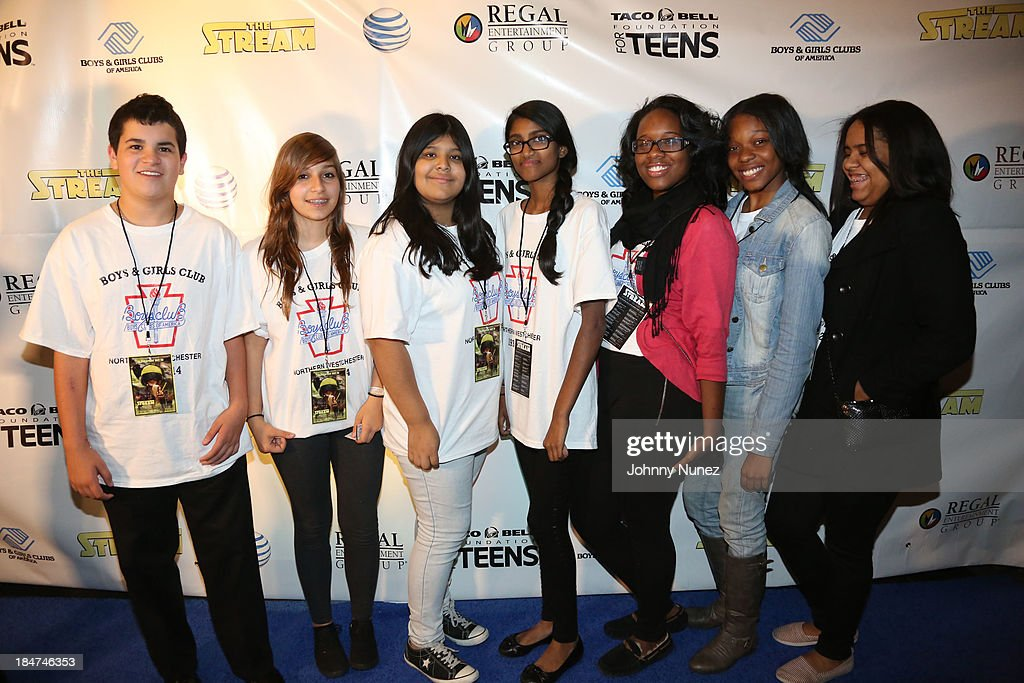 Members of the Boys & Girls Clubs of America attend 'The Stream' Premiere at Regal Union Square Theatre, Stadium 14 on October 15, 2013 in New York City.