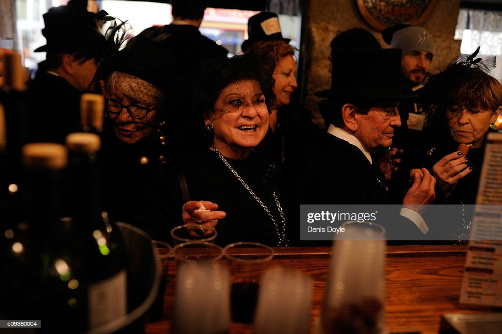 Members of the Brotherhood of the ''Burial of the Sardine'' enjoy tapas and red wine at a local tevern during the Burial of the Sardine procession on February 10, 2016 in Madrid, Spain. The Sardine procession is a centuries-old Spanish tradition made famous by a painting by Spanish artist Francisco de Goya called 'El Entierro de La Sardina'. The mourners hold a mock funeral procession mourning the end of Carnival through the heart of old 'Castizo' Madrid visiting and enjoying the wines and tapas of local taverns.