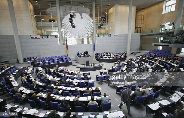 Members of the Bundestag and Bundesrat attend hearings over reforming Germany's federal system at a joint session of the Bundestag and the Bundesrat...