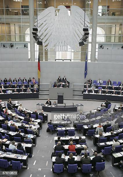 Members of the Bundestag and Bundesrat attend the first hearings over reforming Germany's federal system at a joint session at the Bundestag May 16...