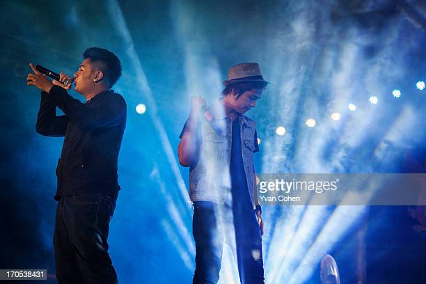 Members of the Burmese hip hop band XBox performing at a concert at the People's Park in Yangon Since the Burmese junta began loosening its grip on...