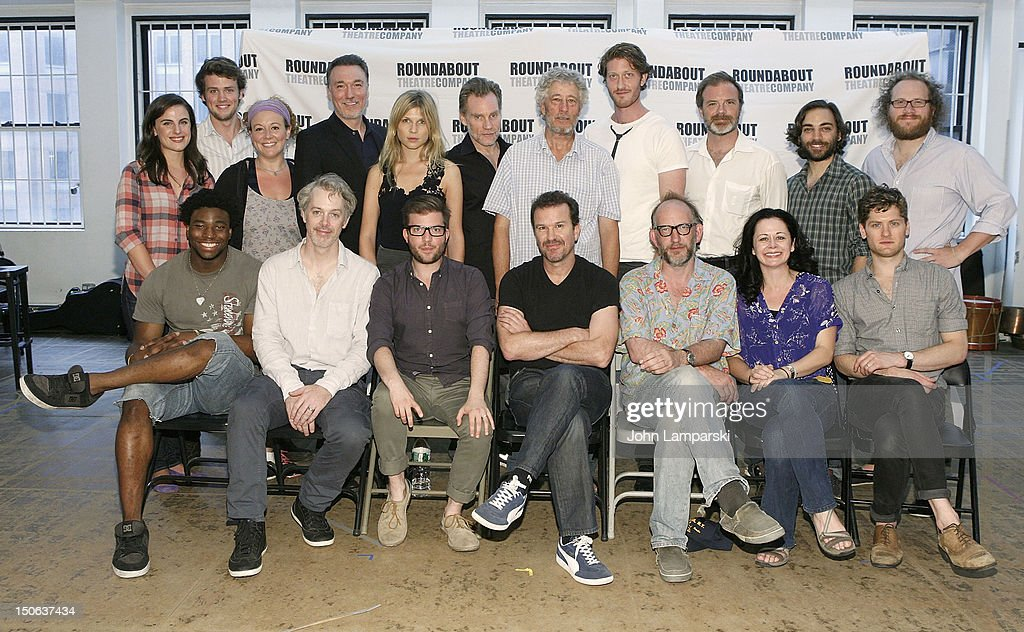 Members of the cast of 'Cyrano de Bergerac' attend the photocall on August 23, 2012 in New York City.