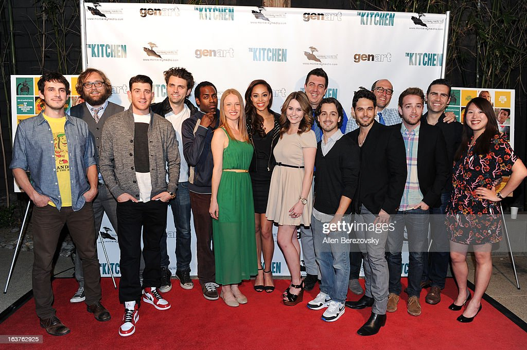 Members of the cast of the movie 'The Kitchen' arrive at the Los Angeles premiere of 'The Kitchen' at Laemmle NoHo 7 on March 14, 2013 in North Hollywood, California.