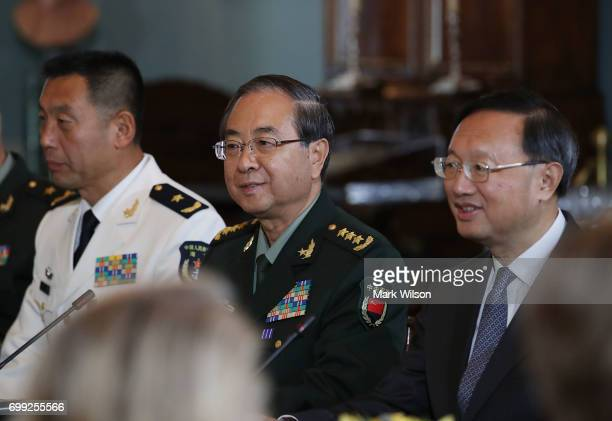 Members of the Chinese Government including Chinese State Councilor Yang Jiechi and Chief of the People's Liberation Army Joint Staff Department...