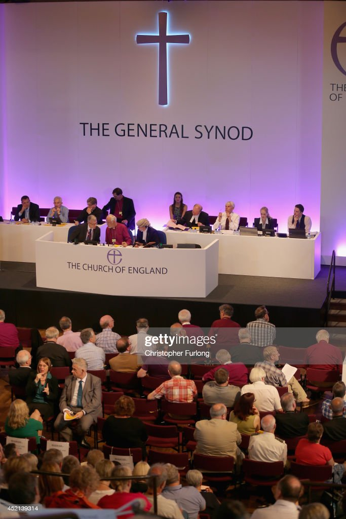 Members of the Church of England's Synod attend the morning session of the annual Church of England General Synod before they vote on the introduction of women Bishops at York University on July 14, 2014 in York, England. Members and officers of the Church of England's General Synod are voting on whether to introduce women bishops. If successful women bishops could be announced and ordained within the next year.