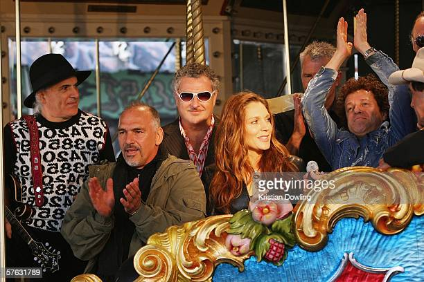 Members of the Countdown Spectacular Joe Dolce Joe Camilleri Ross Wilson Tottie Goldsmith Daryl Braithwaite and Leo Sayer attend the launch for 'The...