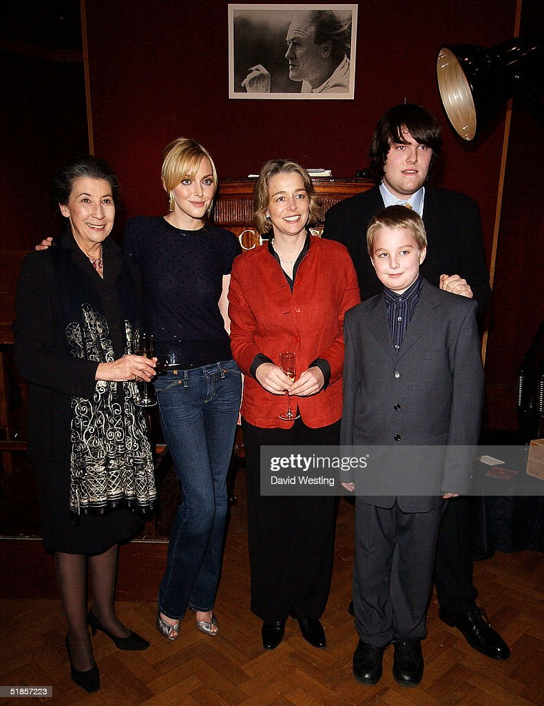 Members of the Dahl Family, Liccy Dahl (2nd Wife of Roald Dahl), <a gi-track='captionPersonalityLinkClicked' href=/galleries/search?phrase=Sophie+Dahl&family=editorial&specificpeople=209092 ng-click='$event.stopPropagation()'>Sophie Dahl</a> (Grand Daughter of Roald Dahl), Orphelia Dahl (Daughter of Roald Dahl), and Grandson's Luke and Ned, attend the charity auction of Roald Dahl's private photographs at Christie's auction house on December 13, 2004 in London. The photographs have been developed especially for the event by Roald's 18 year-old grandson Luke Kelly.