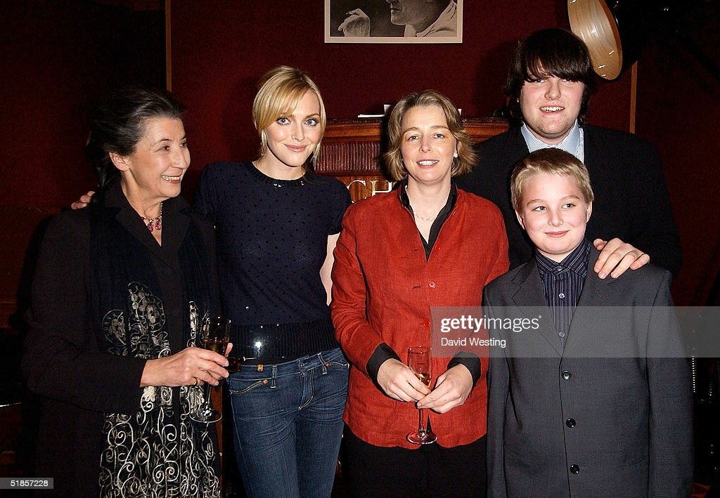 Members of the Dahl Family, Liccy Dahl (2nd Wife of Roald Dahl), Sophie Dahl (Grand Daughter of Roald Dahl), Orphelia Dahl (Daughter of Roald Dahl), and Grandson's Luke and Ned, attend the charity auction of Roald Dahl's private photographs at Christie's auction house on December 13, 2004 in London. The photographs have been developed especially for the event by Roald's 18 year-old grandson Luke Kelly.