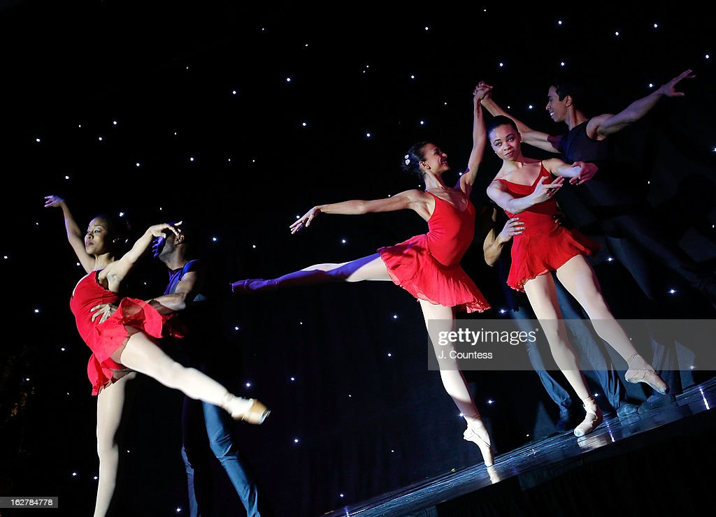 Members of the Dance Theatre of Harlem perform during the Dance Theatre Of Harlem's 44th Anniversary Celebration at Mandarin Oriental Hotel on February 26, 2013 in New York City.