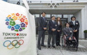 Members of the delegation of the Tokyo bid Yasuhiro Nakamori director of the Japanese Olympic Committie fourtime Olympian and 2011 FIFA Ballon d'Or...